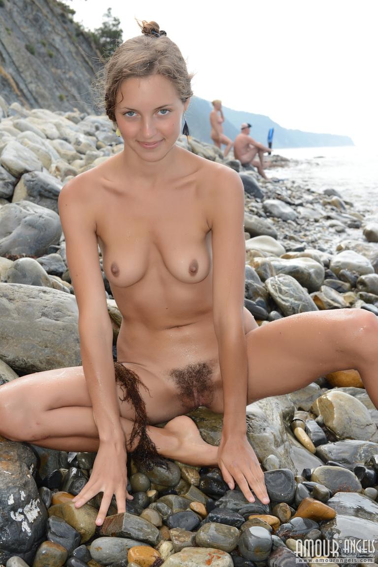 Hairy Naked beach