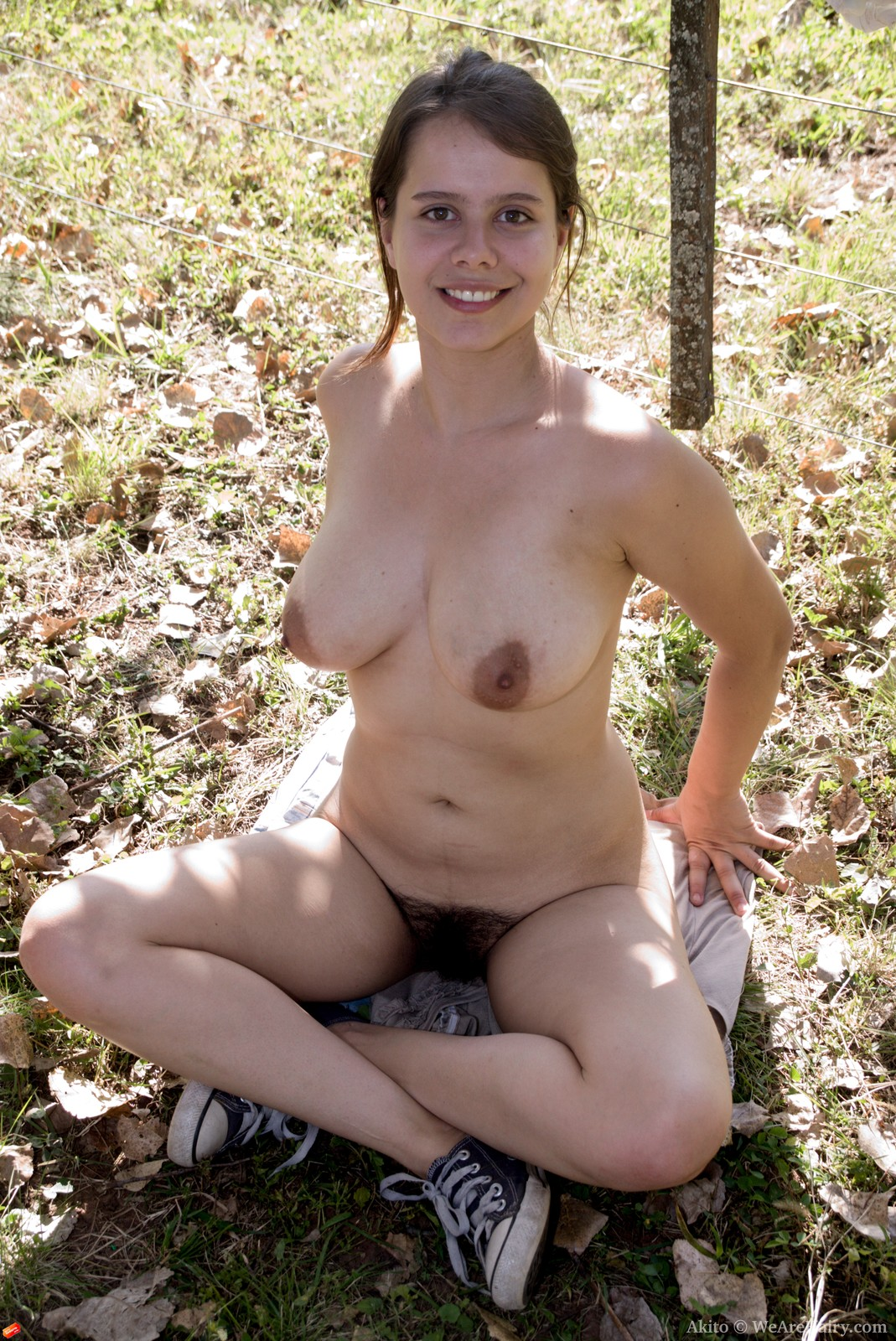 Sexy nude women garden think