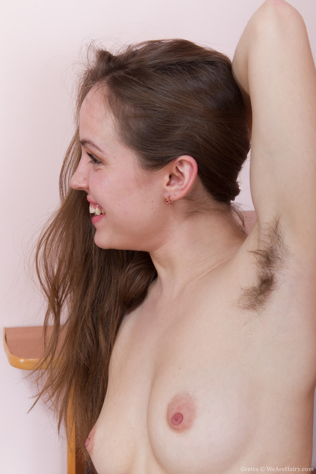 Hairy women arms with girls