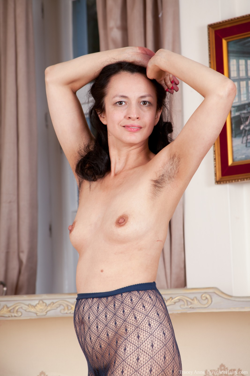 Hairy nude traci pussy