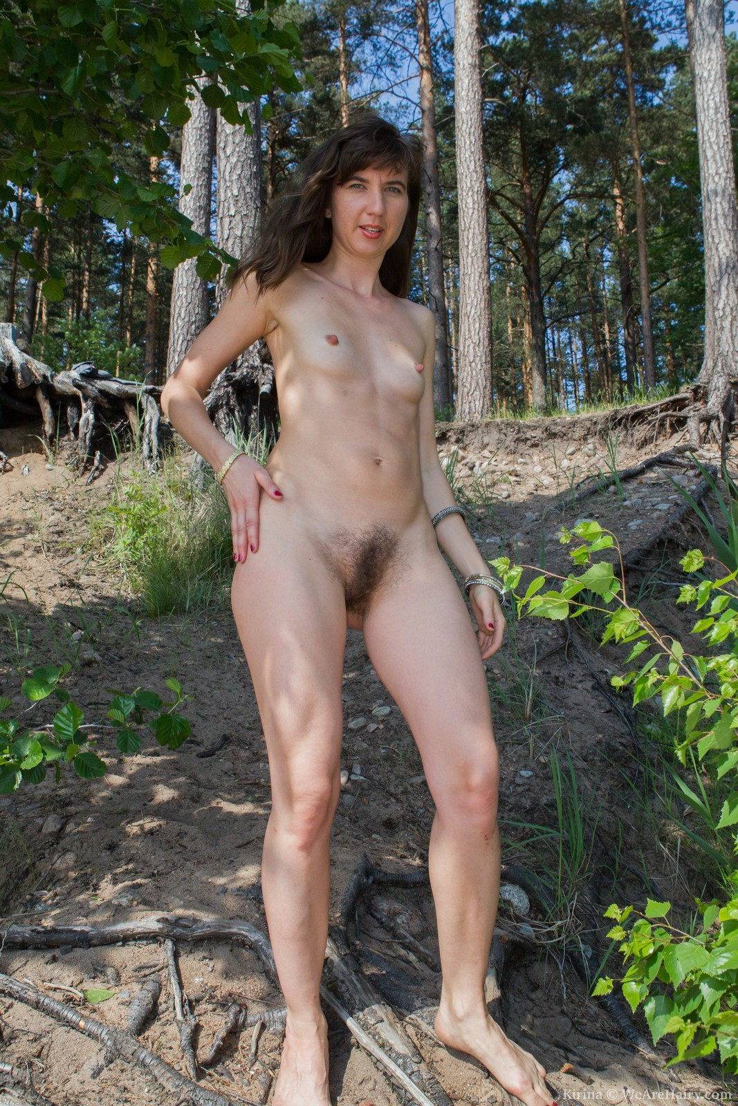 Are naked mature nudists outdoors are