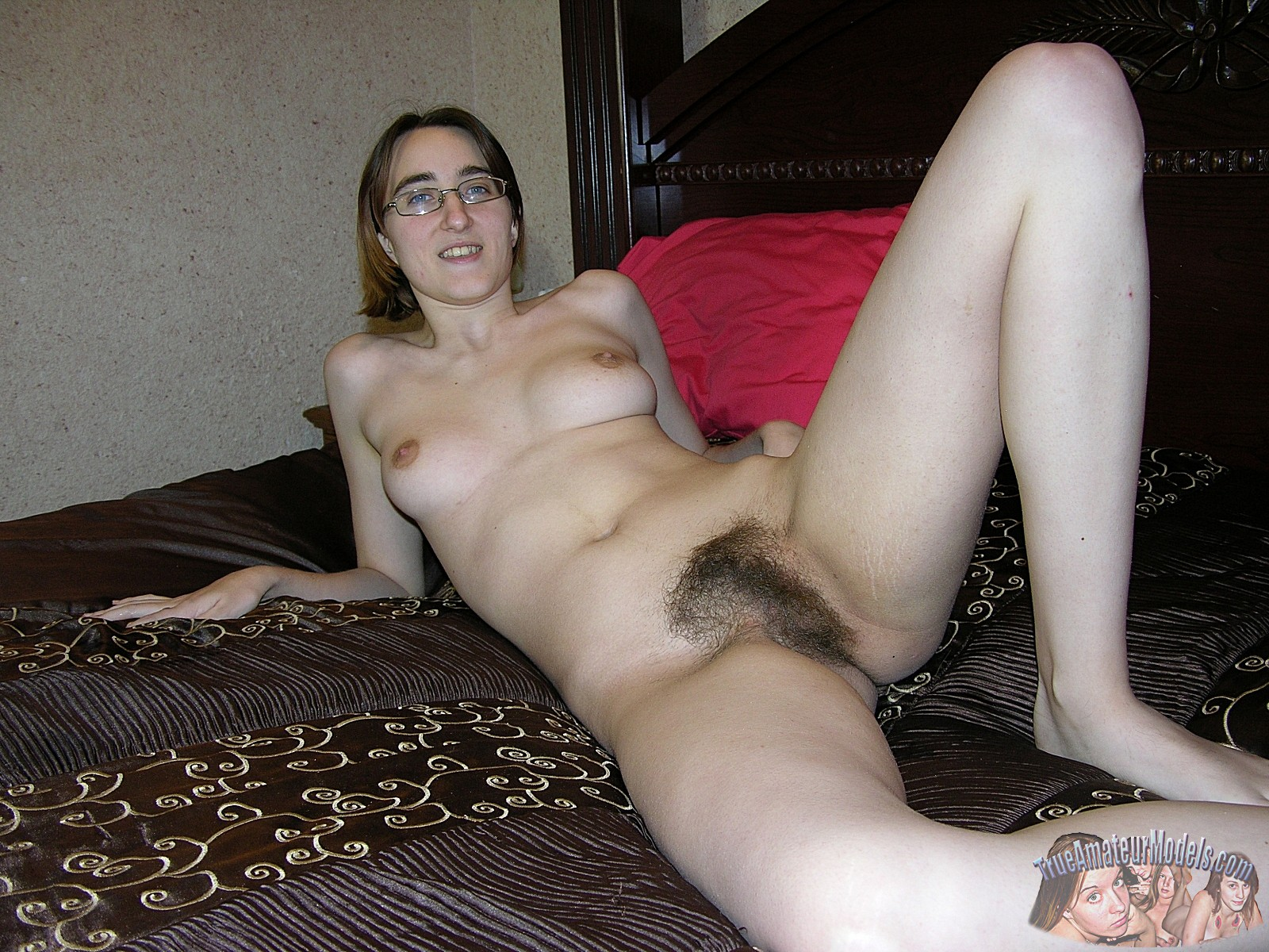 naked Hairy girls glasses